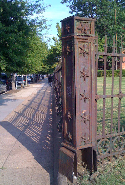 Detail of the fence at the Old Naval Hospital.