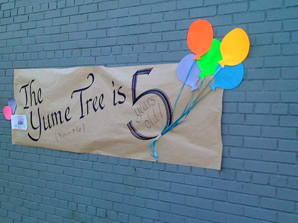 The Yume Tree is five years old!