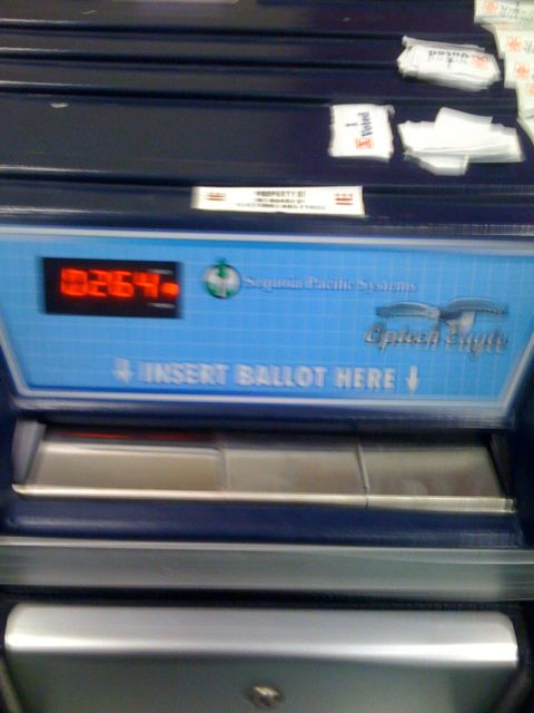 9.19 - Not fast enough to catch my ballot going in.