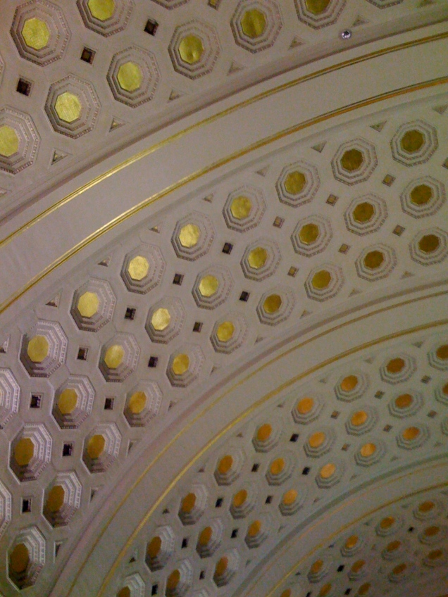 The ceiling of Union Station.