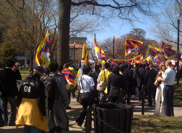March 9: One of the cool things about living in DC is that random parades and protests just seem to happen. This one was a Free Tibet march.