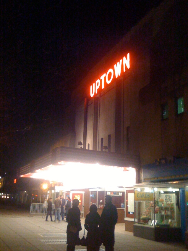 "March 10: I went to see ""Watchmen"" with friends at DC's best movie theater, the Uptown, in Cleveland Park."