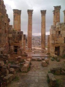 Modern Jerash from Roman Ruins
