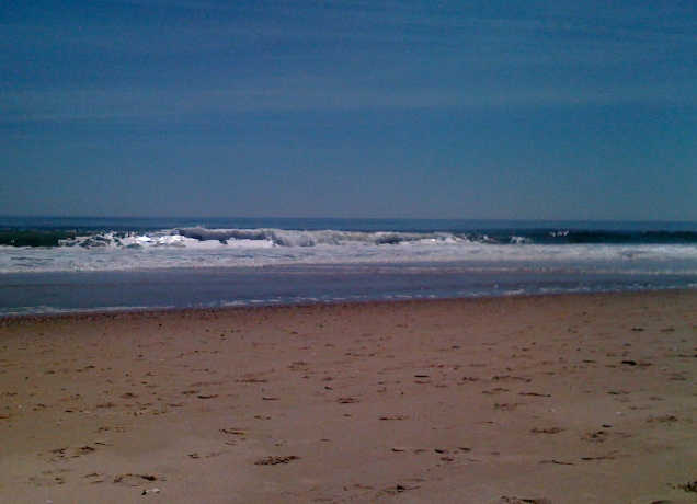 April 18: A beautiful day at Bethany Beach in Delaware.