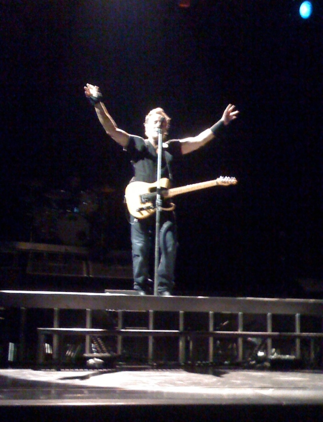 May 5: Bruce Springsteen in Charlottesville, from the front row of the pit. It's been almost a week and I am still a little giddy.