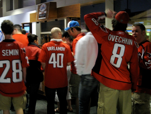 May 9: Looks like half the team is online for a beer during the second intermission.