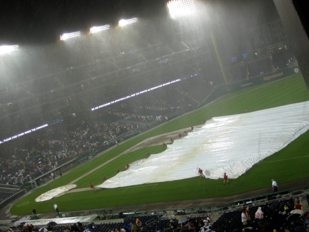 May 16, part 2: The game was called in the top of the 6th due to an absolute deluge!