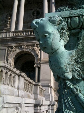Detail shot of the Library of Congress.