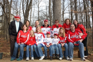 My awesome family, rocking the red.