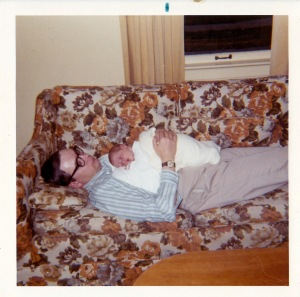 Dad and me - long, long ago.