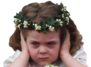 The frowning flower girl, via Mashable.com.