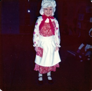 My preschool starring role: Dolley Madison.