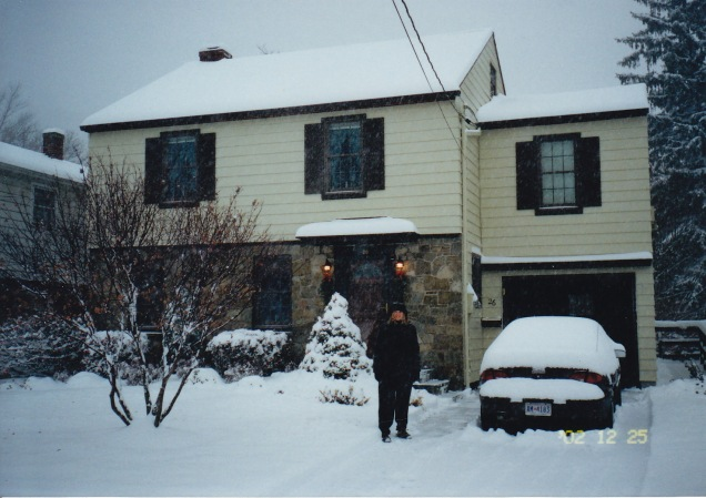 Christmas morning, 2002 (snow!)