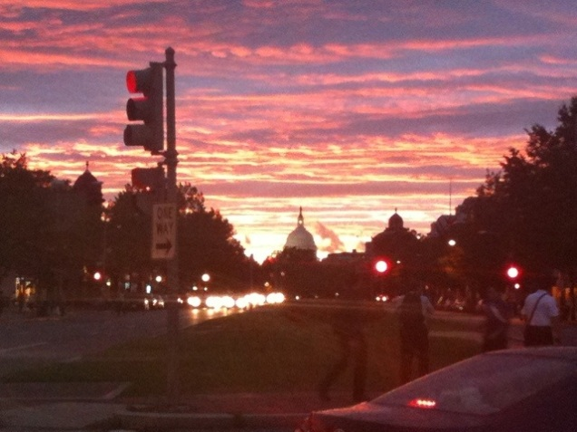 Sunset over the Capitol, September 15, 2011.