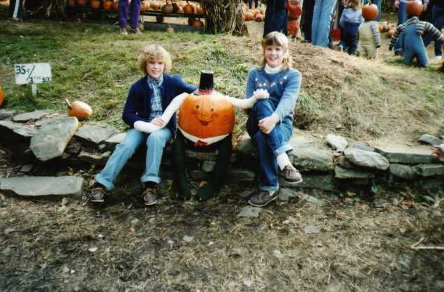 At the pumpkin farm, c. 1982