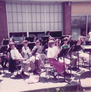 Fifth grade band concert. I'm the 3rd chair, 2nd clarinet, in my Calvin Klein dress that I was *so* proud of I remember it to this day.