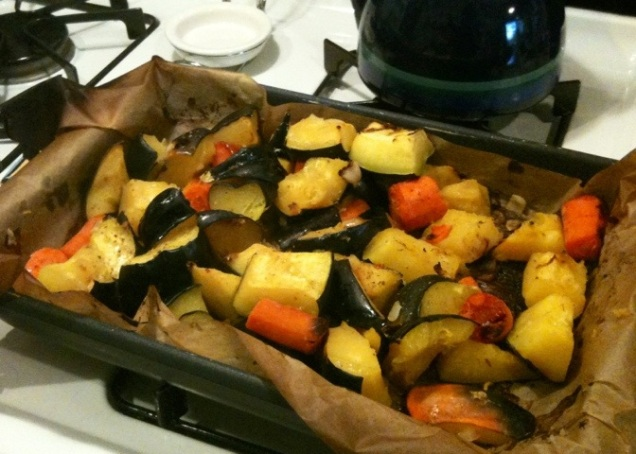 Roasted vegetables, pre-soupifying.
