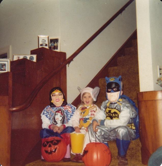 Halloween, 1976 or 1977, at Grandma & Grandpa's house.