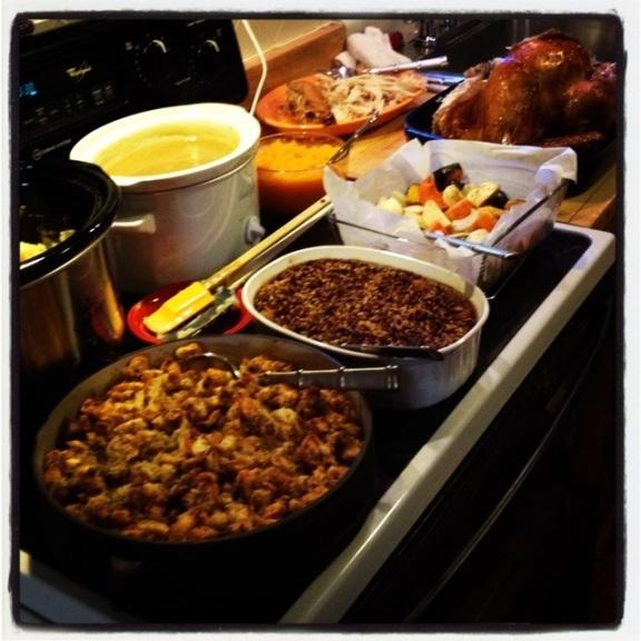 Thanksgiving spread...