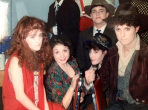 Some of the cast of our college production of Assassins (spring 1993).