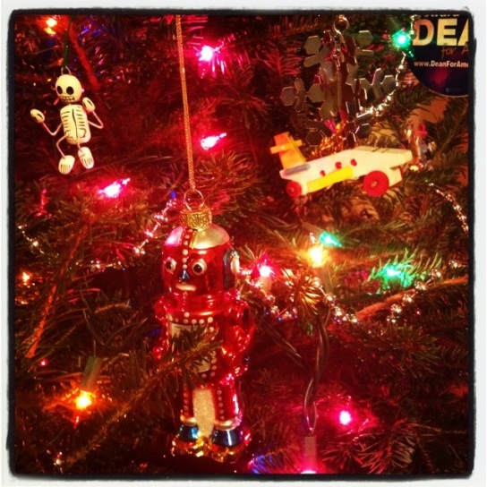 My new robot ornament (and some old favorites).
