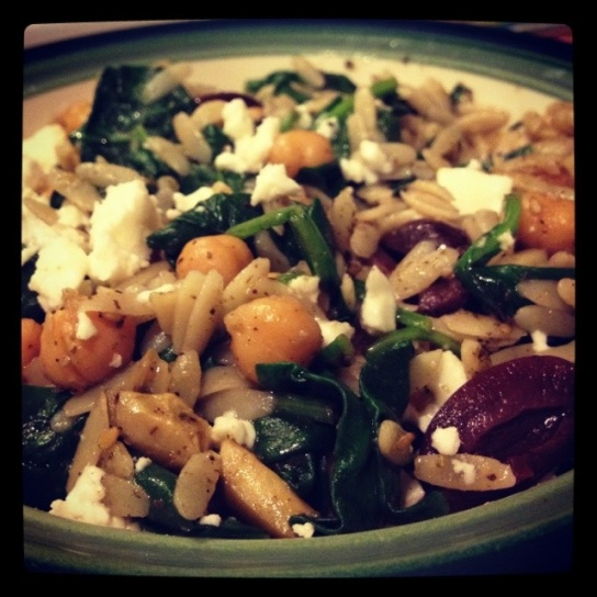 What's Cooking: Orzo, Chickpeas, and Spinach
