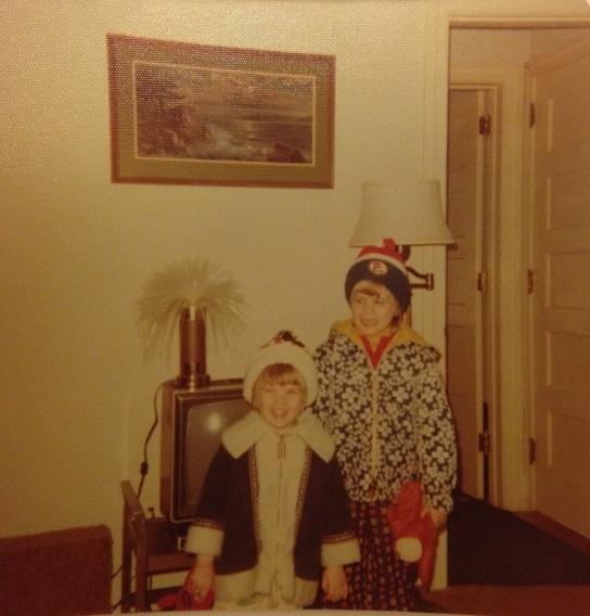 Eileen & me, winter 1977.