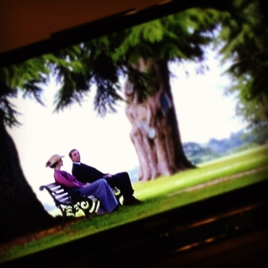 Downton Abbey, on my tv.