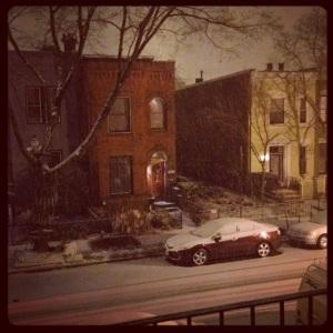 A little light snow on Friday night.