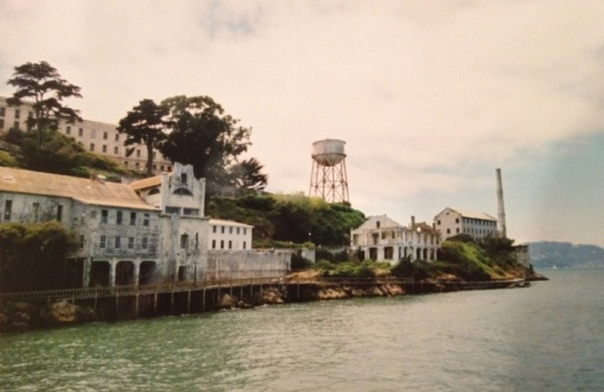 Arriving at Alcatraz for the second time, in 2001.