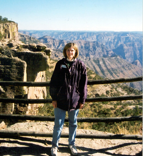At the Copper Canyon in Mexico.