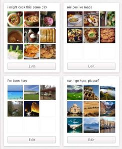 A few of my Pinterest boards.