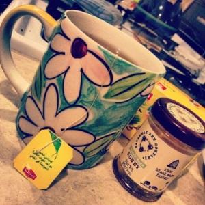 Tea & honey: my companion today.