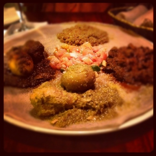 My friend Alisa was visiting from Albany, so we met at Ethiopic for dinner.