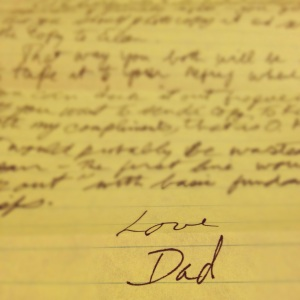 A letter from Dad.