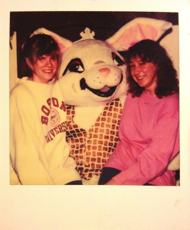 Me and Dana with the Easter Bunny, 1989.