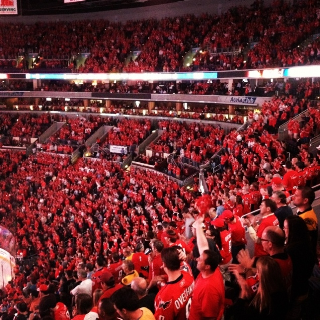 A full house rocking the red at Verizon Center.