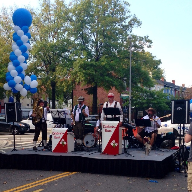 The oompah band at the Columbia Heights Oktoberfest.