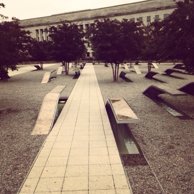 The 9/11 Memorial at the Pentagon.