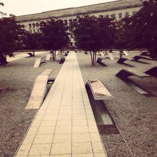 The 9/11 Memorial at the Pentagon.
