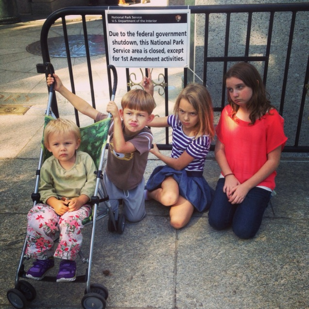 The government shutdown makes kids sad.