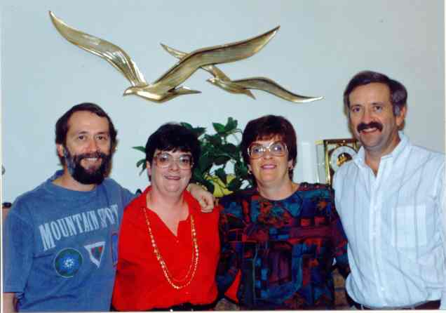 Jimmy, Fran, Mom, and Fred, c. 1990.