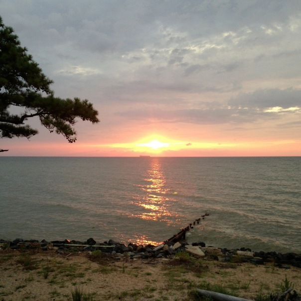 Sunrise on the Chesapeake Bay.