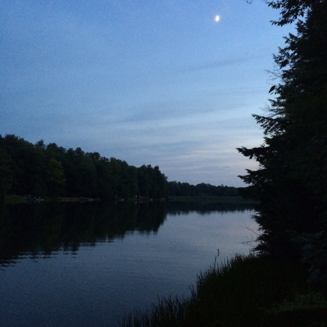 Moonrise over Longford Lake.