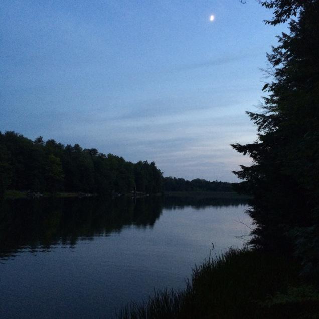 Moonrise over Longford Lake.