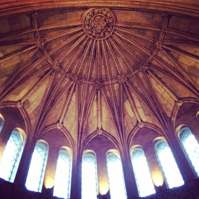 Look up: The ceiling in the Smithsonian Castle.