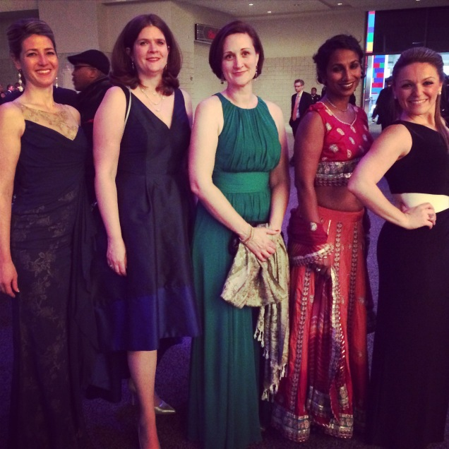 The ladies of Ward 6 at the ball.