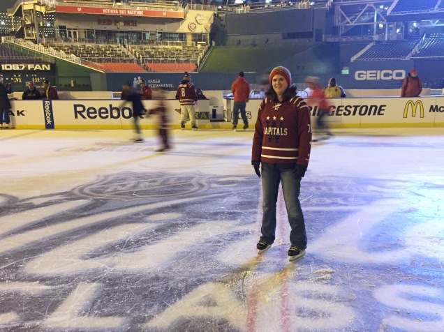 At center ice!