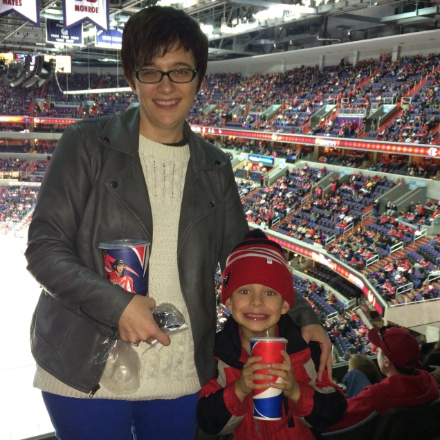 Joanne & Wyatt at the Caps game.