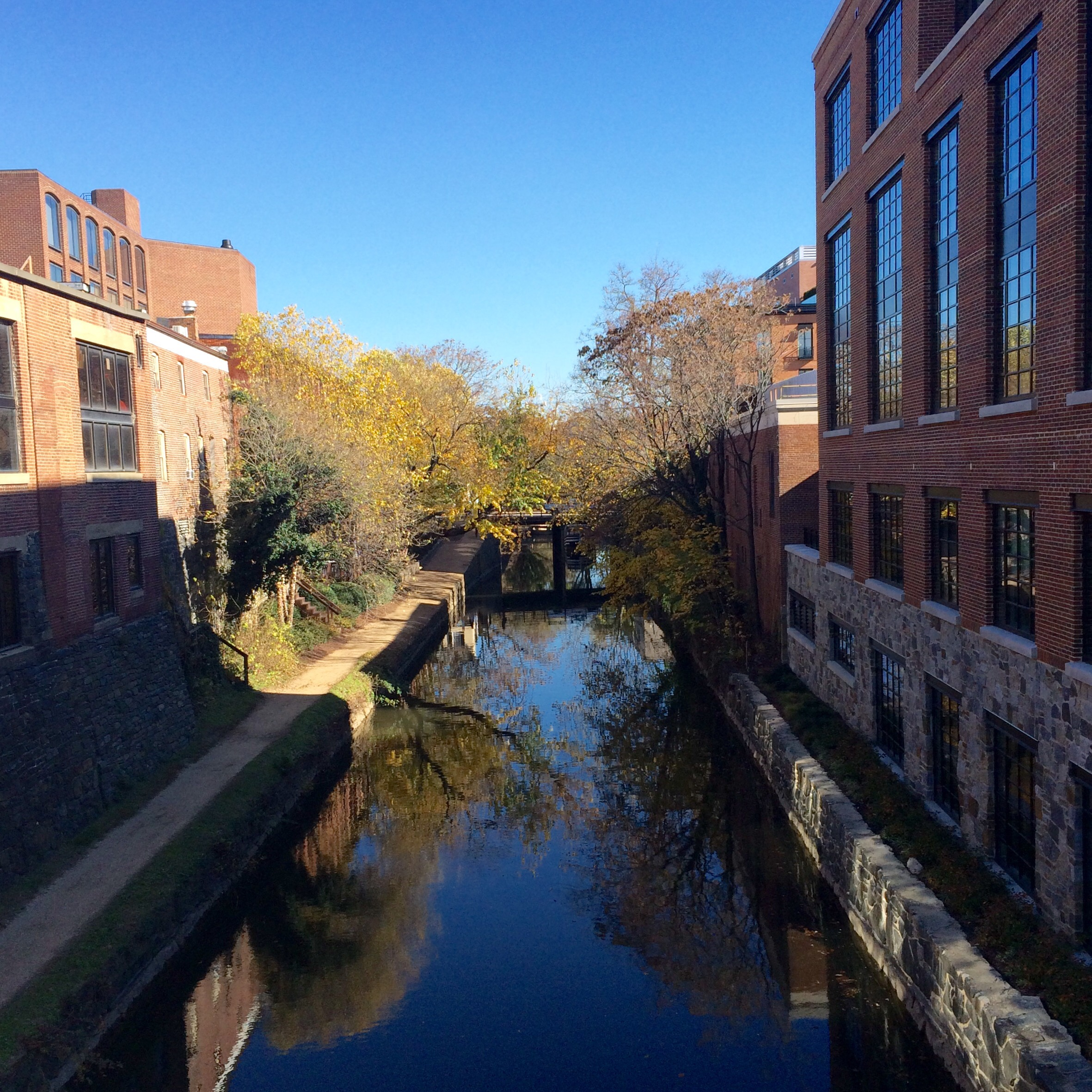 Fall on the C&O Canal in Georgetown.